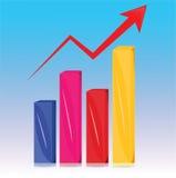Graph vector arrow design Royalty Free Stock Photo