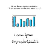 Graph Vector Bar Hand Draw Color  Royalty Free Stock Images