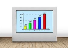 Graph on wall Stock Photography
