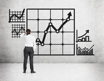 Graph on wall Royalty Free Stock Photos
