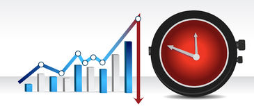Graph and watch illustration design Royalty Free Stock Photos
