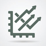 Graph web icon Stock Photography