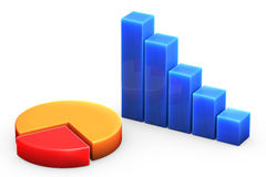 Graph on White Stock Image