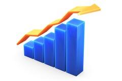 Graph on White Stock Photos