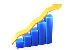 Graph on White Royalty Free Stock Photo