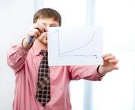 Graph on white Royalty Free Stock Photos
