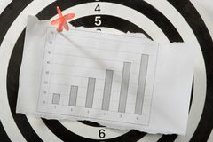 Graph on white paper Stock Images