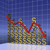 Graph of world dollar trading Stock Photo