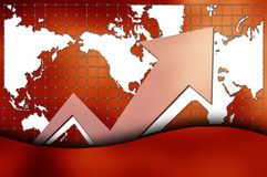 Graph with world map Royalty Free Stock Images