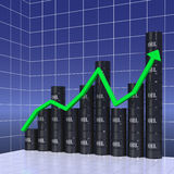 Graph of world oil trade Royalty Free Stock Image