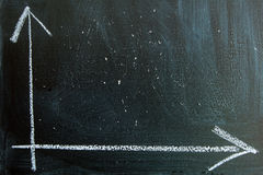 Graph written in chalk on a blackboard Stock Photography