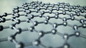 Graphene illustration stock