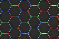 Graphene atomic structure on black background Royalty Free Stock Photography