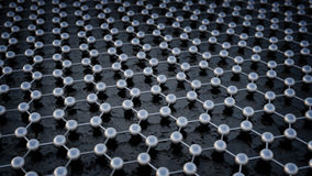 Graphene atomic structure. Nanotechnology background illustration Royalty Free Stock Images