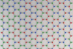 Graphene atomic structure on white background Royalty Free Stock Photo