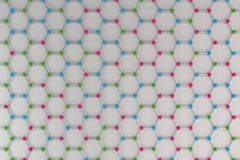 Graphene atomic structure on white background stock illustration