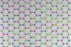 Graphene atomic structure on white background Stock Image
