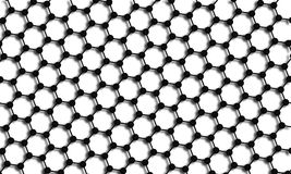 Graphene3. 3D illustration of graphene molecular stucture Royalty Free Stock Photos