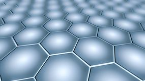 Graphene - 2D Materialen - Metamaterials royalty-vrije illustratie