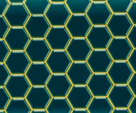Graphene - 2D Materialen - Metamaterials stock illustratie