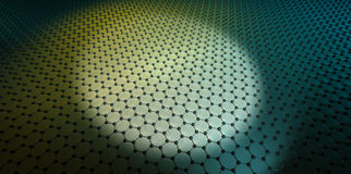 Graphene. 3D rendering of a single layer of graphene Stock Image