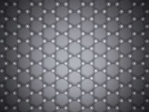 Graphene layer structure 3d, top view Royalty Free Stock Photos