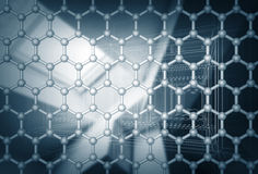 Graphene layer structure model. 3d render Stock Images