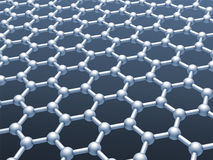 Graphene layer structure model Royalty Free Stock Image