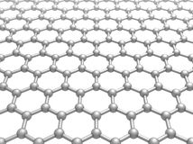 Graphene layer structure schematic 3d model Royalty Free Stock Photography