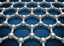 Graphene layer structure schematic model Stock Photography