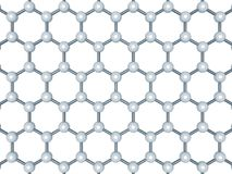 Graphene layer structure, top view isolated Royalty Free Stock Photography