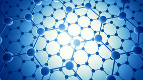 Graphene layers. Graphene atomic structure - nanotechnology background illustration Royalty Free Stock Photo