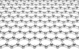 Graphene modelo da estrutura de cristal Fotografia de Stock Royalty Free