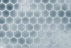 Graphene molecular layer structure Stock Photography