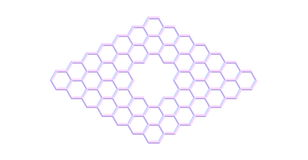 Graphene molecular structure with a pore isolated on white Stock Photo