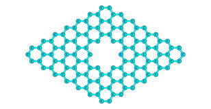 Graphene molecular structure with a pore  on white Royalty Free Stock Photography