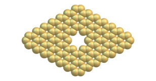 Graphene molecular structure with a pore  on white Stock Photos