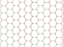 Graphene molecule structure fragmen Royalty Free Stock Image