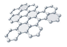 Graphene molecule structure fragment Royalty Free Stock Image