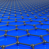 Graphene molecules forming a linked background with limited dept Royalty Free Stock Images