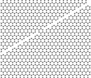 Graphene sheet divided into two parts with a bridge Royalty Free Stock Image