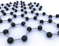 Graphene sheet. On white background Stock Images