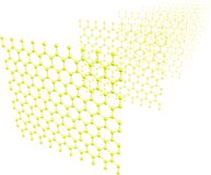 Graphene Sheets Royalty Free Stock Images