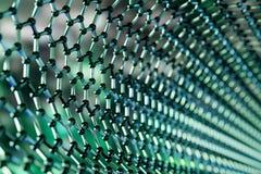 Graphene technologii cz?steczkowa nano struktura na zielonym tle - 3d rendering zdjęcie royalty free