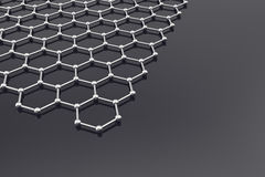 Grapheneoppervlakte, nanotechnologieachtergrond 3D Illustratie Royalty-vrije Stock Afbeelding