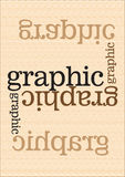 Graphic. Abstract text, fully design Vector Illustration