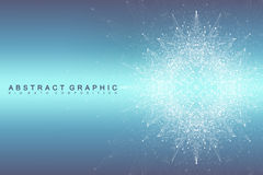 Graphic abstract background communication. Big data complex.  Stock Image