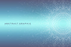 Graphic abstract background communication. Big data visualization. Connected lines with dots. Social networking Stock Images