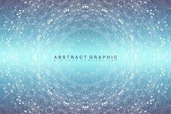 Graphic abstract background communication. Big data visualization.   Stock Photo