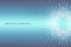 Graphic abstract background communication. Big data visualization. Connected lines with dots. Social networking Stock Photo